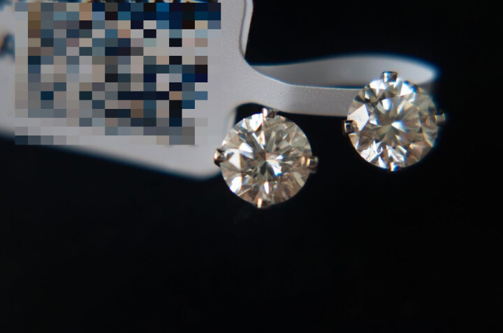 GSK美国进口珠宝 50分天然南非钻石耳钉女14K金镶KL色真钻耳饰带IGI证书美国进口 晒单图