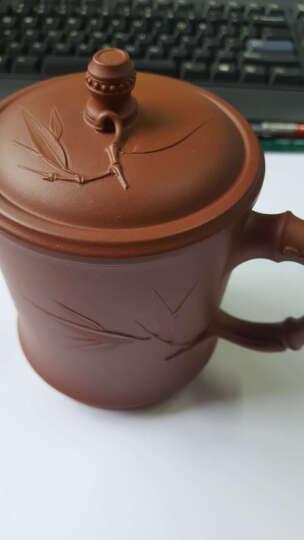 百年利永 紫砂杯 紫砂盖杯宜兴全手工名家原矿清水泥竹叶杯茶杯450ml 晒单图