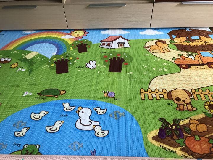 蔓葆宝宝爬行垫爬爬垫子婴儿童泡沫垫拼接加厚地板垫拼图可折叠 小小地球(60cm*60cm*6片) 晒单图