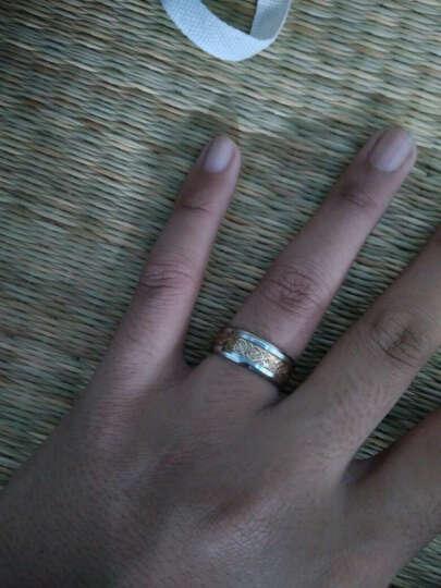 BEIER 时尚饰品 尼伯龙纹戒指男款 钛钢男士戒指饰品 时尚戒指潮男指环 (免费刻字) 电镀黑白色BR-R013 美码7.5=国16# 晒单图