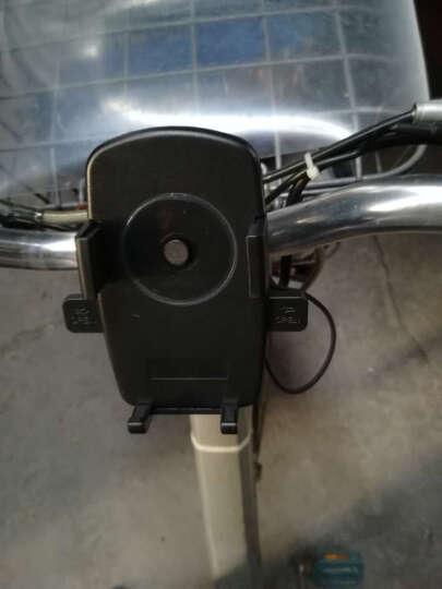 Snowkids 自行车手机支架 GPS导航支架 带防脱落弹性线 自动卡死功能 黑色 晒单图