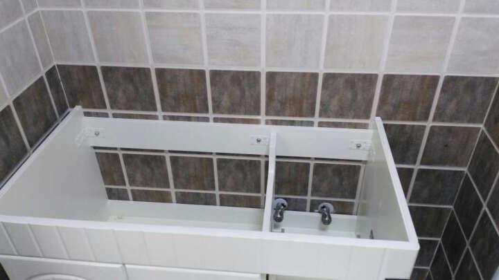 名爵(MEJUE) 美式浴室柜组合套装悬挂式橡木洗脸盆柜小户型洗手盘卫生间柜 象牙白U-6204 80cm对开门中间盆 晒单图