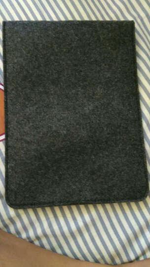 优加 新iPad7保护套2018/2017款通用内胆包 小米平板4保护套 9.7英寸以下通用防摔皮套 竖款黑色 晒单图