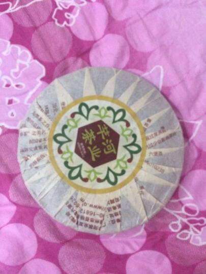 广西梧州六堡茶金花黑茶芊河茶叶 5年陈金花黑茶饼200g 晒单图