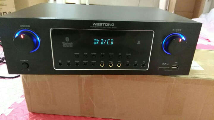 威斯汀(WESTDING) 点歌机家庭影院ktv音响组合功放套装家用卡拉OK双系统一体机10英寸低音 落地支架 晒单图