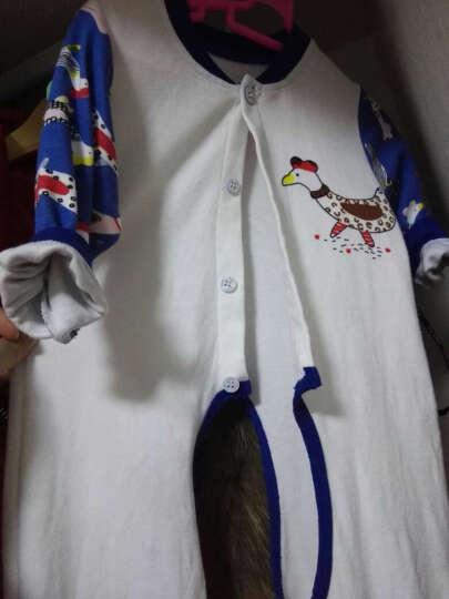 齐齐熊(ciciibear) 婴幼儿纯棉连体衣新款卡通长袖哈衣睡衣宝宝开档爬服 白色 73cm建议身高68-74cm 晒单图