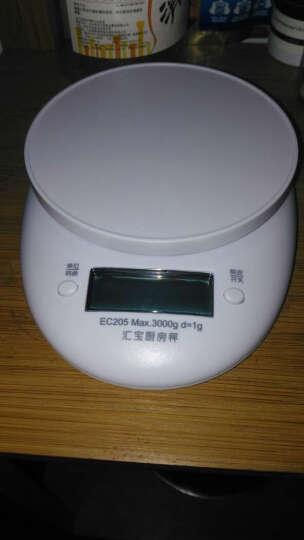 汇宝电子秤家用厨房秤家用电子秤食物称迷你烘焙秤克秤烘焙电子称克秤 白色 晒单图