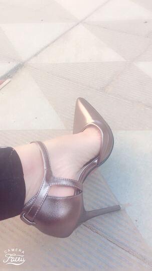 JZFF 高跟鞋 女春秋季高跟细跟夜店性感职业女鞋时尚OL防水台单鞋女 灰色(标准码) 37 晒单图