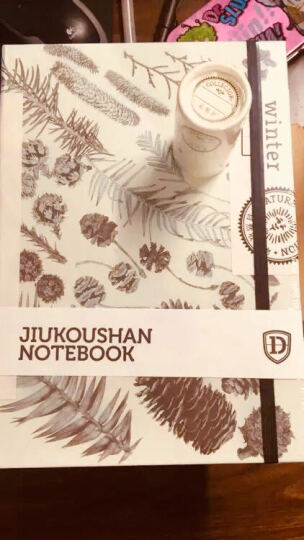 自然收集物@九口山速写本B5限量空白笔记本 白纸小清新彩铅手绘本 秋天浅 晒单图