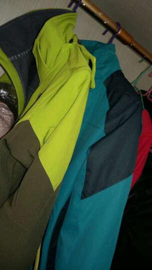 狼骑户外冲锋衣 男女士情侣款防风防水透气保暖三合一冲锋衣2759 彩兰-女 4XL 晒单图