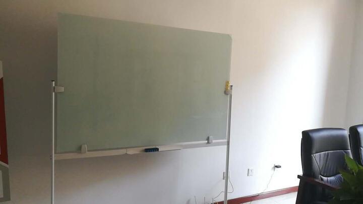 乖乖博士(GuaiGuaiBoShi) 磁性防爆钢化玻璃白板支架式可移动办公教学写字板 烤漆支架玻璃白板100*150 晒单图