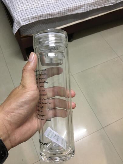 TIANXI双层玻璃杯 带盖过滤网茶杯加厚水瓶男女家居办公透明办公车载泡茶水杯子   晒单图