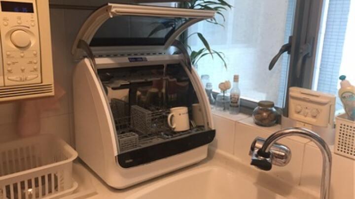 海尔(Haier) HTAW50STGB 小海贝洗碗机全自动家用迷你小型台式免安装消毒 鎏金黑 晒单图