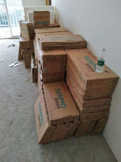 森摩 瓷砖客厅电视背景墙大理石地板砖全抛釉800*800地砖 加厚通体大理石-银蟹灰(片/元)(2片/箱) 晒单图