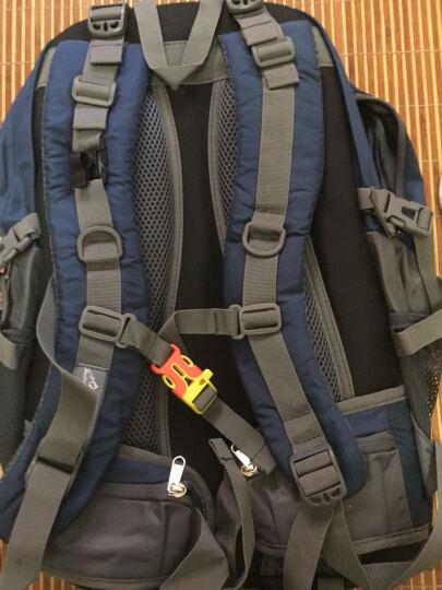 户外尖锋(HU WAI JIAN FENG) 户外旅行背包男女登山包大容多功能双肩包书包 湖蓝色  40L 晒单图