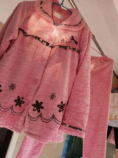 帕美琪睡衣女冬季法兰绒加厚珊瑚绒水貂绒女家居服秋长袖套装保暖 610 L码 156-165cm 100-120斤 晒单图