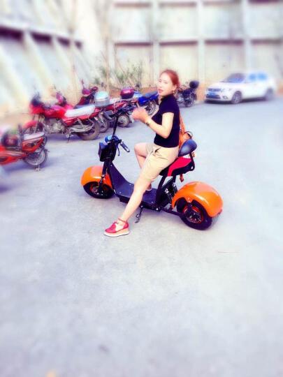 佐冠哈雷电动车成人宽胎电瓶车锂电滑板车电动自行车X11铝合金轮毂电动摩托车 铝轮12A单组电池匀速续航30-40公里 晒单图