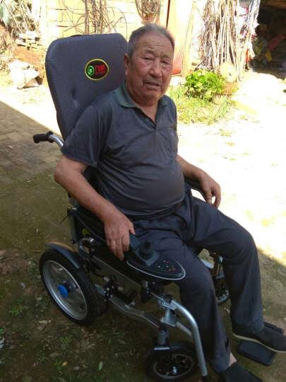 九圆 电动轮椅车残疾人老年人家用医用代步车轻便可折叠自动刹车可选锂电池可加装双人装置 680W灰色舒适款 24V12A铅酸电池 晒单图