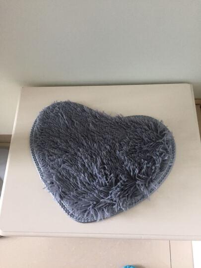 乾卫 地毯卧室客厅家用茶几地毯房间床边地毯床前毯定制可爱椭圆形 玫红A 短绒60X200CM【+心形垫】 晒单图