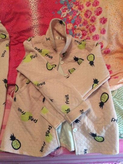 林馨美月子服棉质长袖哺乳睡衣春秋产后孕妇睡衣套装 825蓝色-夹层棉 XL码 晒单图