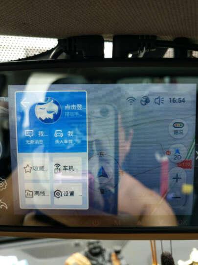 包黑子 D900高清后视镜行车记录仪双镜头倒车影像声控导航测速一体机 安卓导航系统带三录+32G 晒单图