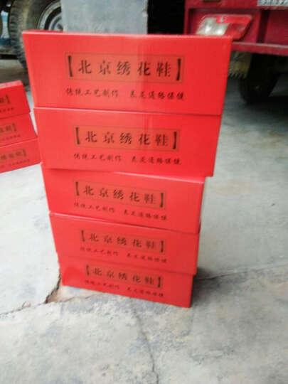 老北京绣花布鞋 16 红尾孔雀 婚鞋民族风广场舞女鞋LLX 红色 34 晒单图