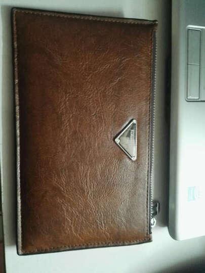 梵士汇(F4Y)JS-4110 男士钱包超薄长款钱包时尚潮流简约商务休闲多功能钱包 黑色A 晒单图