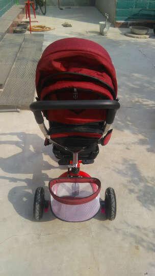 星孩(XINGWA) 儿童三轮车脚踏车小孩折叠旋转儿童车宝宝手推车 黑七彩蓬钛空轮+折叠减震+转座 晒单图
