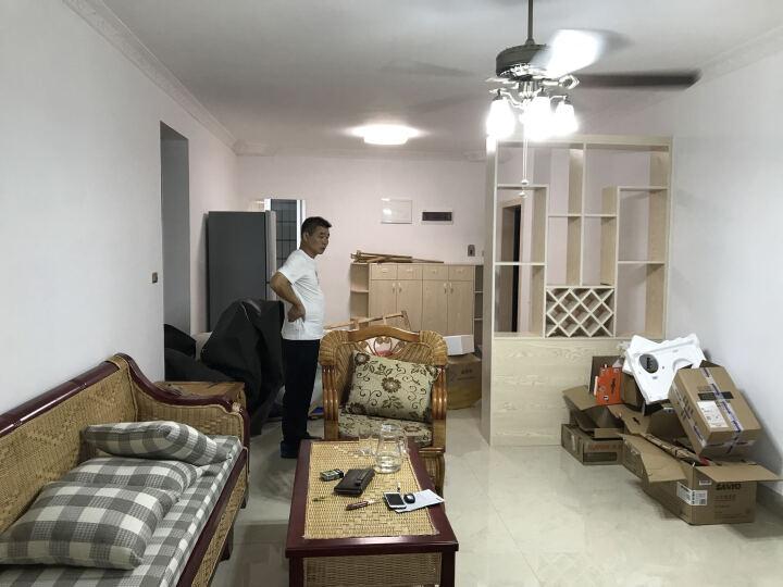 司库诺 多功能藤沙发 推拉沙发床 藤木客厅沙发 实木沙发 3+贵+茶几 晒单图