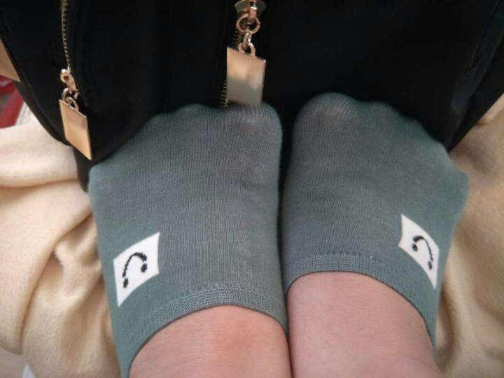 叙年船袜女士纯棉短袜隐形袜子夏天脚底袜 硅胶防滑全棉浅口袜5双装 太阳笑脸款 均码(34-39码) 晒单图