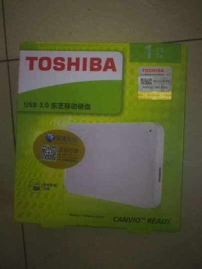 东芝(TOSHIBA)移动硬盘1t USB3.0 A3系列2.5英寸黑色/白色(兼容MAC/XP) 新北极熊 晒单图