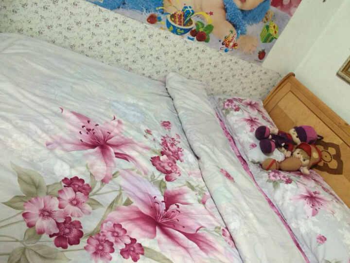 优蒙家纺 全棉中式古典60支长绒纯棉婚庆刺绣四件套1.8米床加大双人床单被套床上用品 波谱 1.5-1.8米床用 被套200*230cm 晒单图