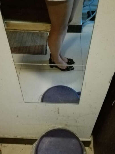 侍娅佐仃内单鞋女粗跟高跟鞋尖头中跟皮鞋工作鞋小码31-33大码40-43韩版春夏职业女鞋 黑色【热卖色】 大码定做43-可退换 晒单图