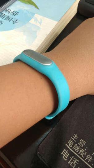 毕亚兹(BIAZE) 小米手环腕带 智能手环替换表带 健身运动腕带 蓝色 晒单图