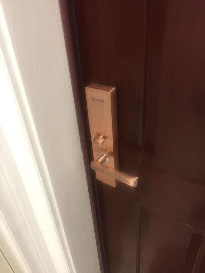 松下/Panasonic电子指纹锁 智能密码锁 家用防盗门锁 门禁锁芯V-N630C/L 古铜色 左开门 无天地钩 晒单图