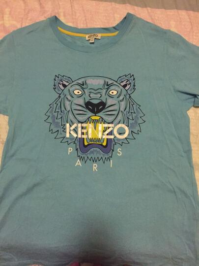 KENZO BABY 高田贤三童装 女童粉红色棉质虎头图案短袖T恤 KJ10158 32 4A码 晒单图