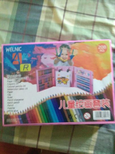 (送涂鸦本剪刀折纸)儿童画笔套装蜡笔水彩笔绘画文具画画笔套装带画板美术小学生礼物 268件【大粉色】画板+6本画本+2把剪刀 晒单图