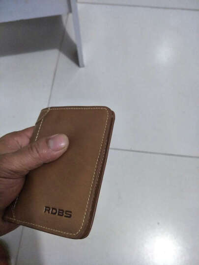 巴适(RDBS)男士钱包真皮超薄复古小钱包牛皮钱夹 横款竖款短款钞票夹皮夹 1006 咖啡色横款 晒单图