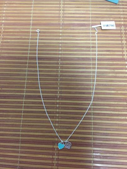蒂芙尼(Tiffany & Co.)925银镶双心形 珐琅蒂芙尼项链 蓝色 晒单图