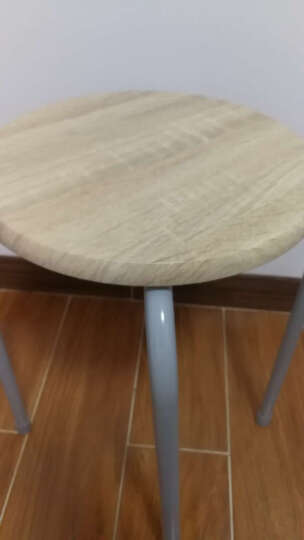 慧乐家 椅子凳子  京东配送金属套凳  圆形木质办公椅 户外便携凳(2个装)3D木纹色 22196 晒单图