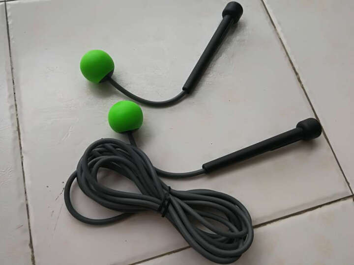 WITESS无线无绳跳绳成人女性减肥健身家用负重钢丝专业绳子运动 两用跳绳绿色 晒单图