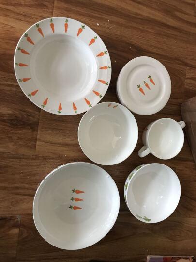 蔬菜系列唐山骨瓷餐具吃饭碗粥碗家用米饭碗汤碗拉面碗陶瓷沙拉碗 6英寸澳碗胡萝卜款 晒单图
