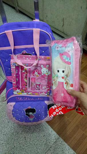 依贝奴(YIBEINU)拉杆书包女孩小学生三轮爬楼梯1-3-5年级五6儿童可爱韩版卡通公主两用可拆卸 单独拉杆包 大号 紫色1088 晒单图