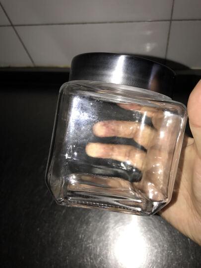 京兰 厨房无铅玻璃储物罐 圆方形五谷杂粮食品收纳盒密封罐干果茶叶瓶 1089圆形不锈钢盖子2200ML 晒单图