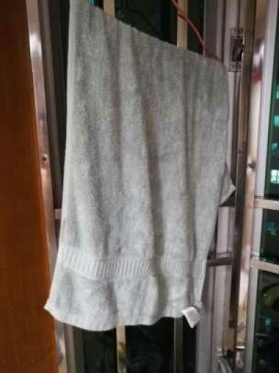 炭作坊 毛巾浴巾竹浆竹纤维纯彩加厚洗脸毛巾34*76 145g 粉色单条装(加厚款) 晒单图