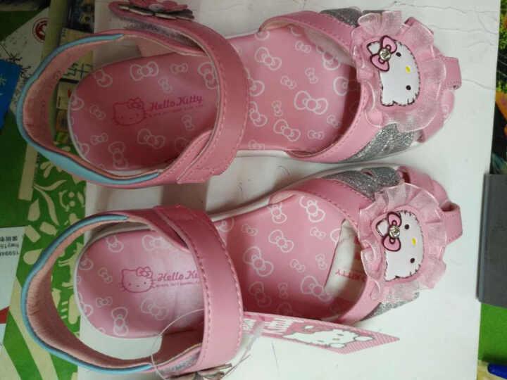 凯蒂猫女童儿童凉鞋夏公主鞋大童9-12岁小女孩2018韩版新款女孩鞋子舒适1 粉色 30 晒单图