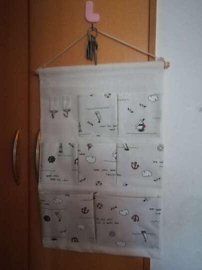 棉麻布艺收纳袋挂袋墙挂式门后收纳挂袋墙上壁挂悬挂式储物袋 田园风格 小女孩 晒单图