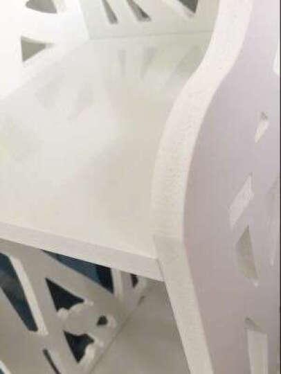 门扉 卫生间置物架 家用落地马桶置物架卫生间抽屉式储物架厕所马桶边防水收纳柜架子 白色中号(有抽屉) 晒单图