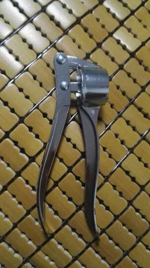 乾越(qianyue) 不锈合金压蒜器创意捣蒜器手动蒜泥器厨房用品小工具 银色 晒单图