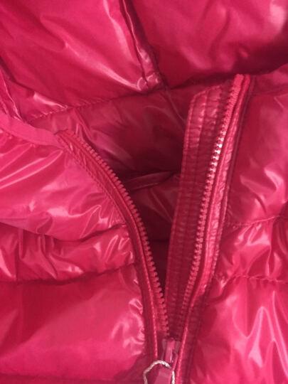 比棉羽绒服女轻薄短款外套情侣2018新款秋冬连帽韩版修身保暖时尚女装运动服 红色 XXL(建议136-150斤) 晒单图